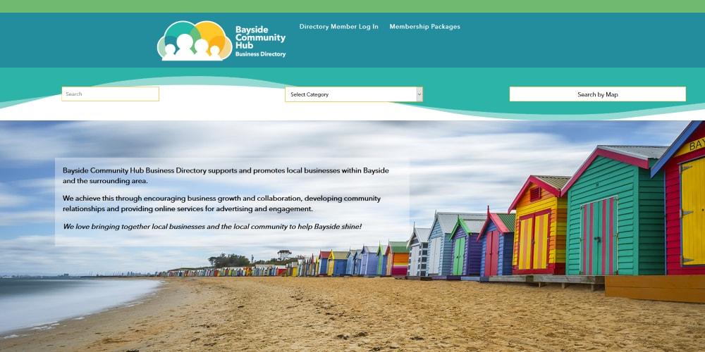 Website Design Portfolio | Bayside Community Hub Business Directory