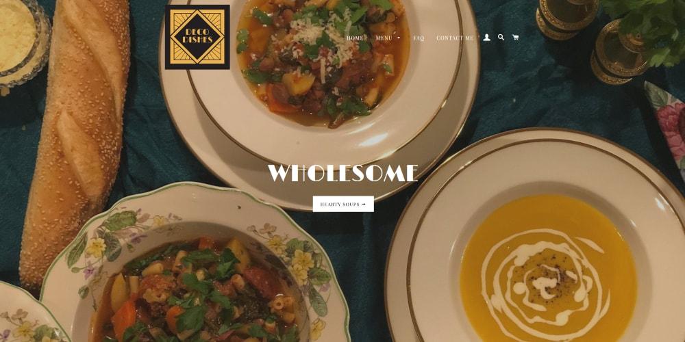 Website Design Portfolio | Deco Dishes | Shopify | Homemade Meals